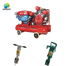 Diesel Engine Air Compressor 7bar Jack Hammer